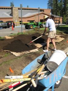 photo of turf conversion at LTCC