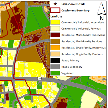 Lakeshore Catchment Map